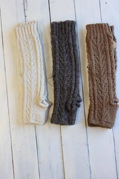 画像1: ペルーニットロング手袋 3色
