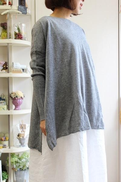 画像1: VCK123 Side slit pullover knit 2色 (vertecoeur)