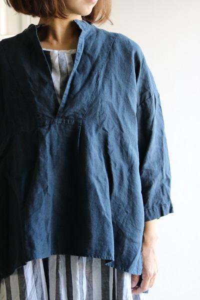 画像1: VC1342 リネンスキッパーシャツ 3色 (veritecoeur)