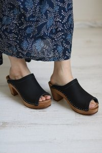 EXPERT HIGH HEEL OPEN TOE CLOGS 2色