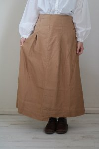 NARU フレンチリネンキャンバスアシンメトリーロング スカート 2色