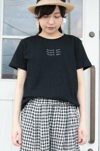 ICHI 刺繍 Thank you Tシャツ 2色