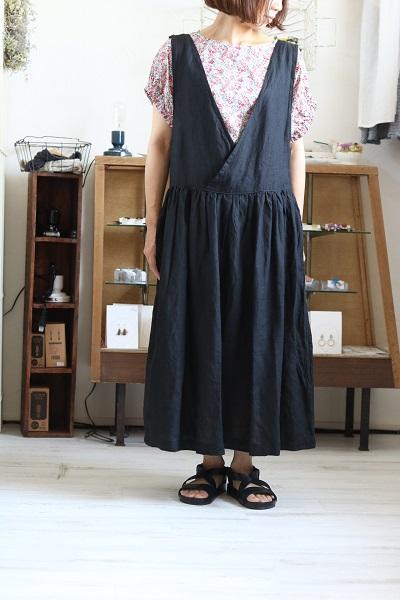 画像1: nachukara リネンサロペットスカート