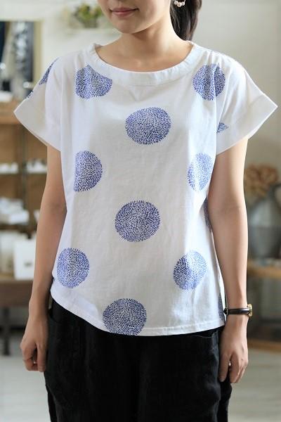 画像1: ICHI リーフドット半袖Tシャツ 3色