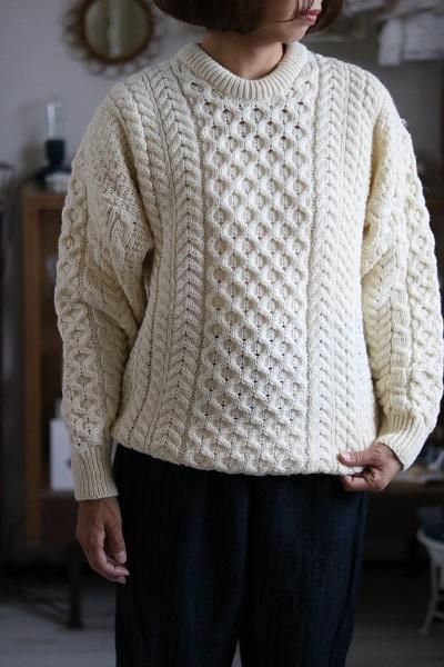 画像1: aran wool mills'アランクルーネックセーター 3色