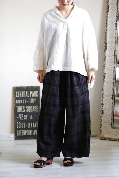 画像1: HTS MADRAS CHECK EASY PANTS