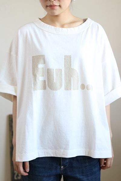 画像1: tumugu ラフィ天竺プリントTee  Euh  2色