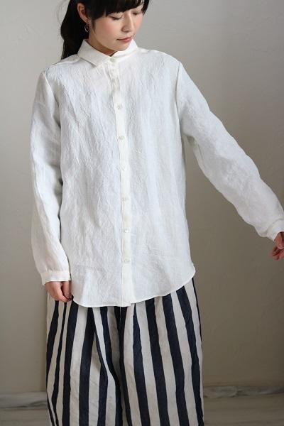 画像2: nachukara リネンレギュラーシャツ 3色