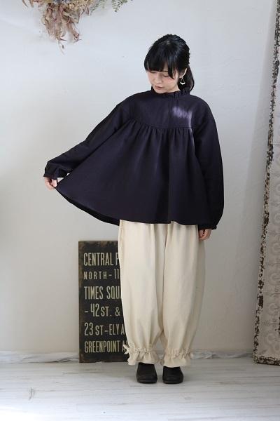 画像2: tumugu コットンリネンキルトプルオーバーシャツ 2色