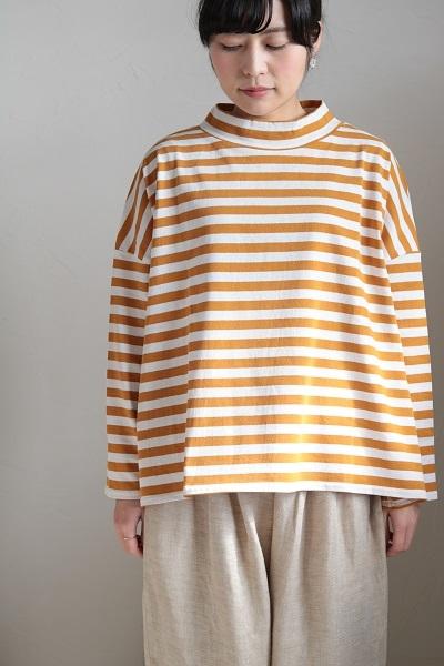 画像1: DIARIES アメリカンドライボーダーモックネックシャツ 3色