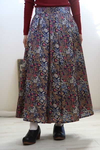 画像1: crespi リバティスカート 2柄
