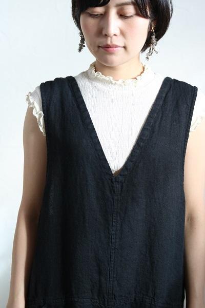 画像3: tumugu 楊柳シャーリングハイネックノースリーブ 3色
