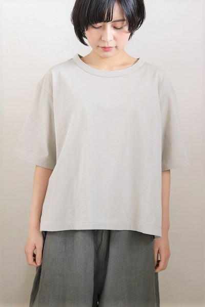 画像2: tumugu スープレコットン天竺5分袖Tシャツ 3色
