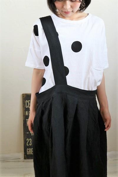 画像1: NARU  ムラ糸リサイクル天竺ドットTシャツ 4色