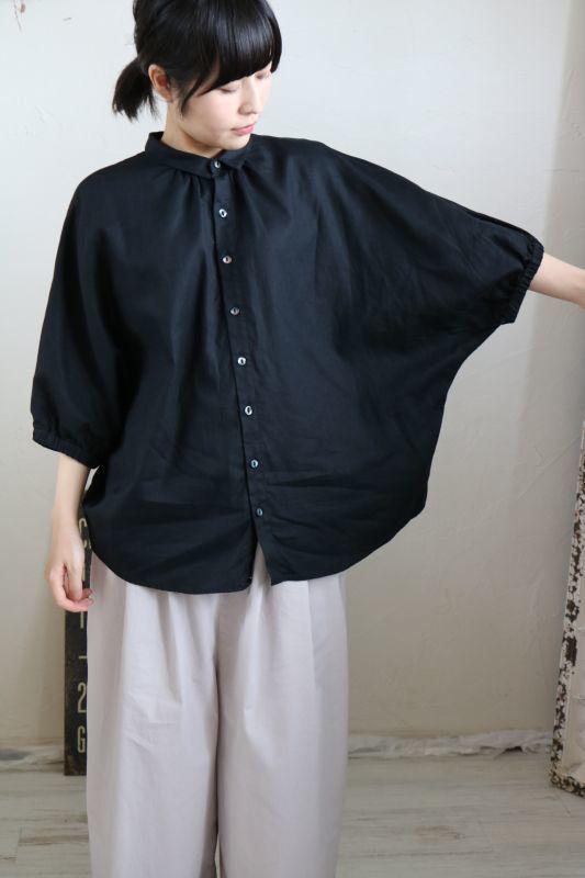画像2: NARU   ウルトラワッシャー綿麻 綾織りドルマンスリーブシャツ   2色