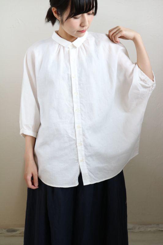 画像1: NARU   ウルトラワッシャー綿麻 綾織りドルマンスリーブシャツ   2色