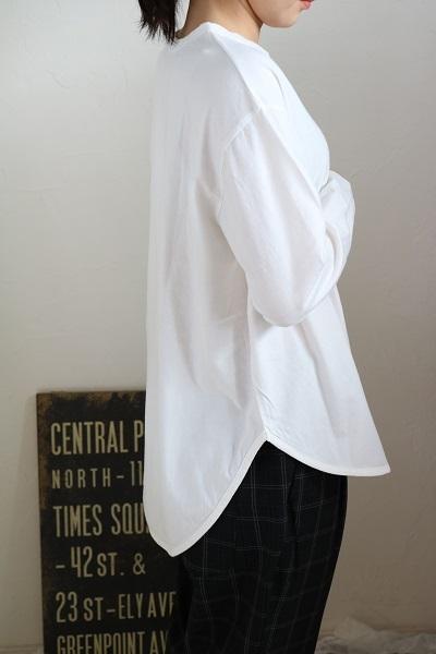 画像1: tumugu  スープレコットン天竺ロング長袖Tシャツ 3色