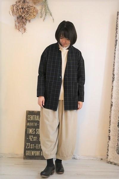 画像1: NARU モナルーチェグレンチェックジャケット 2色