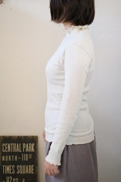 画像3: tumugu コットンノヴァテレコハイネック長袖