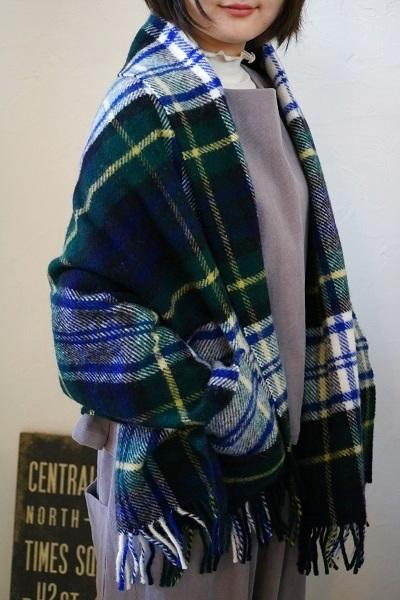 画像1: tweedmill ポケット付きウールスローケット 2色