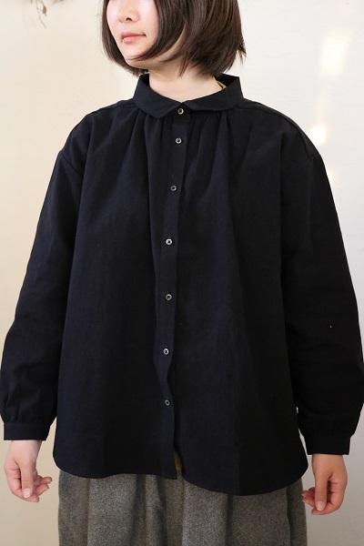 画像1: nachukara コットンリネンレギュラーシャツ 3色