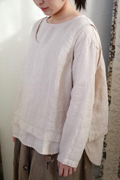 画像1: tumugu ソリトリネンIIプルオーバー+ベストセット 3色