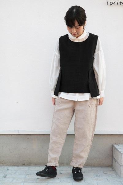 画像1: tumugu ソリトリネンイージーパンツ 2サイズ 2色