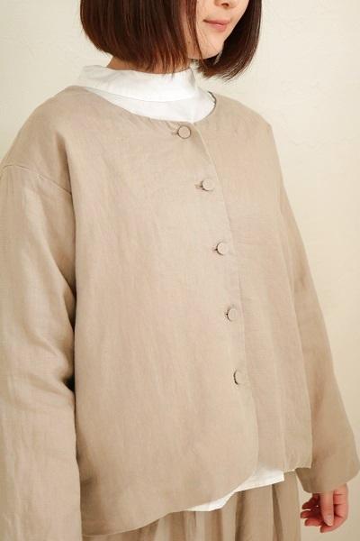 画像1: nachukara ノーカラージャケット