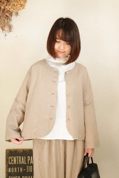画像2: nachukara ノーカラージャケット