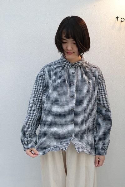 画像1: nachukara ヘリンボンシャーリングレギュラーシャツ 2色