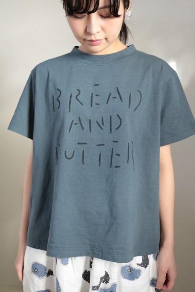 画像1: tumugu ラフィ天竺プリントT BREAD AND BUTTER 4色
