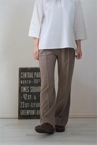 画像1: DIARIES ギャバストレッチイージーセンタータックパンツ 3色
