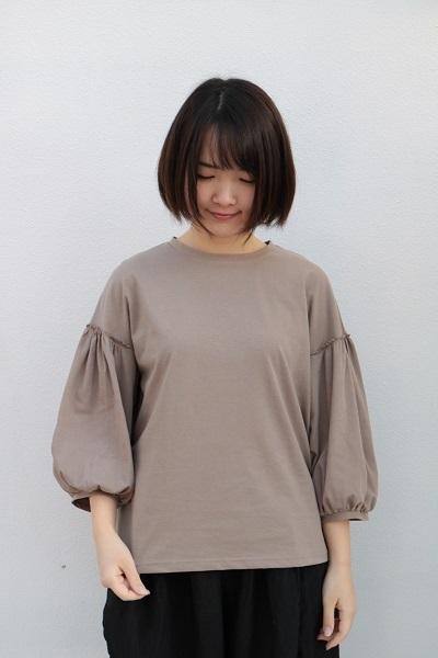 画像1: Gauze# コットンパフスリーブTシャツ 4色