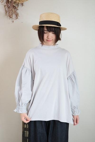 画像1: NARU インド綿×ブロード 袖ボリュームプルオーバー3色