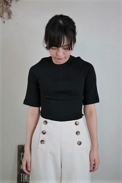 画像1: Gauze# コットンカシミアT-SH 3色