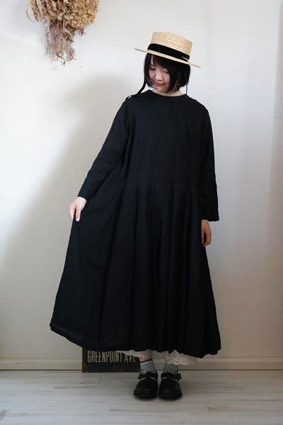 画像1: Gauze# ストリングタックワンピースドレス