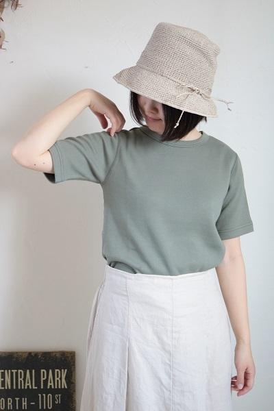 画像1: tumugu  スーピママシュコットンフラットシーマ半袖Tシャツ 5色