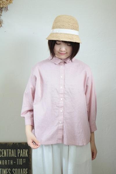 画像1: nachukara レギュラー7分袖シャツ製品洗い 3色