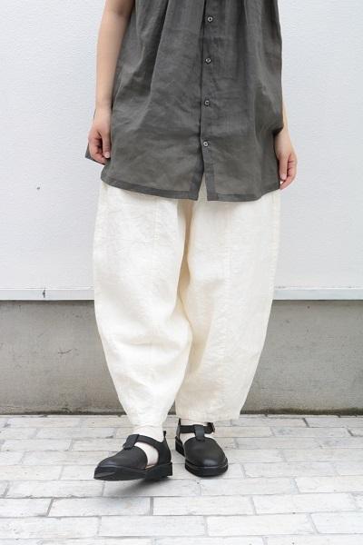 画像1: Gauze#リネンショートチャーリーパンツ 3色